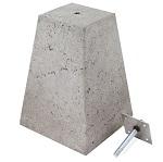 Betonpoer met stelplaat en draadbout