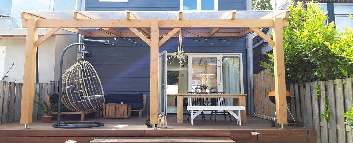 Douglas houten terrasoverkapping